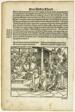 Lucius Mutius, Scipio Africanus, and Paulus Aemilius (recto) Battle Scene (verso) from Officia M.T.C., plate 23 from Woodcuts from Books of the XVI Century