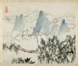 Landscape with Figure, from an album of Landscapes and Calligraphy for Liu Songfu