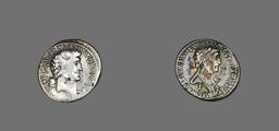 Denarius (Coin) Portraying Mark Antony and Queen Cleopatra VII