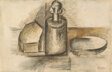 Still Life with Bottle (recto) Bottle with Stipper (verso)