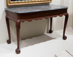 Marble-slab Table