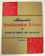 Schumacher's Taliesin Line of Decorative Fabrics and Wallpapers Designed by Frank Lloyd Wright