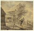Farm with Men and Cows