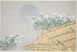 "Moonlit Scene with Hut and Flowers, from the series ""Worlds of Things (Momoyogusa)"""