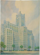 Montgomery Ward Memorial Building, Chicago, Illinois, Perspective