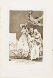 There They Go Plucked (i.e. fleeced), plate 20 from Los Caprichos