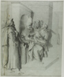 Pilate Washing his Hands, with Christ Being Led Away: Left Portion