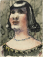 Head of a Woman with a Blue Necklace