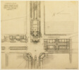 Plate 119 from The Plan of Chicago, 1909: Chicago. Sketch Plan of the Intersection of Michigan Avenue and Twelfth Street