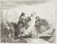 The Holy Family Stepping Off the Bank, plate fifteen from The Flight into Egypt