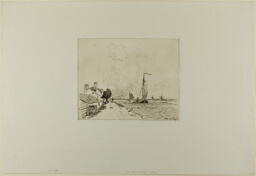 The Two Sailboats, from Cahier de six eaux-fortes, vues de Hollande