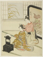 """The Autumn Moon in the Mirror (Kyodai no shugetsu), from the series """"Eight Views of the Parlor (Zashiki hakkei)"""""""