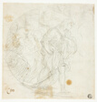 Unidentified Biblical Scene (recto); Sketches (verso)