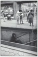 Woman Ascending Subway Stairs, Chicago