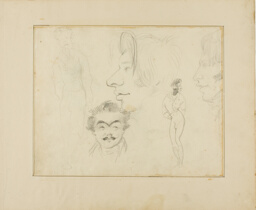 Sheet of Caricatures