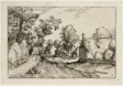 A Village Road, plate seven after Pictures of Farms, Country Houses and Rustic Villages (Praediorum villarum et rusticarum casularum icones)