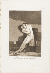 Love and Death, plate ten from Los Caprichos