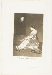 Because she was susceptible, plate 32 from Los Caprichos