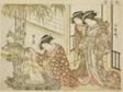 "Courtesans of Maruya, from the book ""Mirror of Beautiful Women of the Pleasure Quarters (Seiro bijin awase sugata kagami),"" vol. 2"
