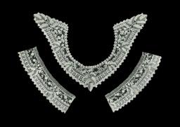 Handkerchief, Fragment of a Border, Collar, Two Cuffs