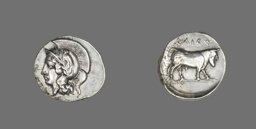 Didrachm (Coin) Depicting the Goddess Athena