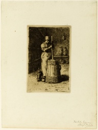 A Woman Churning