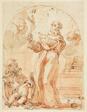 Standing Franciscan Saint Holding Crucifix