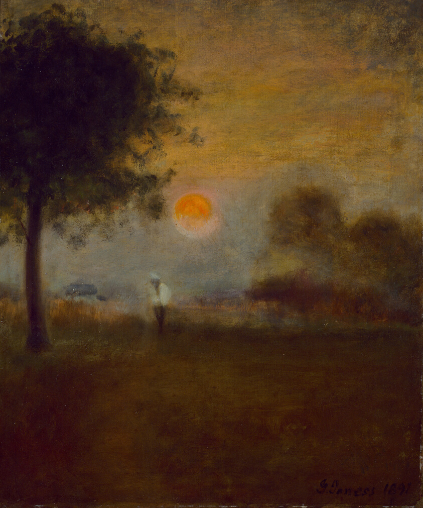 george inness early moonrise - HD 854×1024