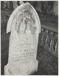 White Gravestone, Laurel Hill Cemetery, San Francisco