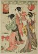 Festivity at a teahouse, from a parody of Chushingura