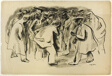 Fight (recto); Study for Fight (verso)