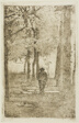 Wooded Walk with Figure