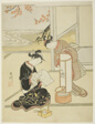 """The Evening Glow of a Lamp (Andon no sekisho), from the series """"Eight Views of the Parlor (Zashiki hakkei)"""""""