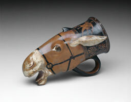 Rhyton (Drinking Vessel) in the Shape of a Donkey Head