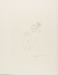 Seated Nude and Child