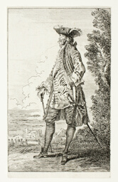 Gentleman, Side View with Hat
