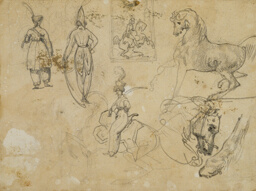 Sketches of Russian Officers and Horses
