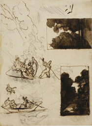 Sketches of a Forest Path and a Musical Boating Party