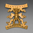 Pendant Depicting a Male Figure with Saurian Heads Emerging from Body