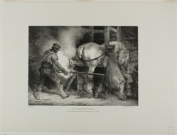 The Flemish Farrier, plate four from Various Subjects Drawn from Life on Stone