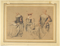 Three Studies of Seated Women