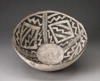 Bowl with Bold Black-on-White Diamond and Zizgag Motifs
