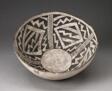 Bowl with Bold Black-on-White Diamond and Zizgag Motifs