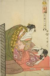 """Hour of the Dragon (Tatsu no koku), from the series """"Twelve Hours in Yoshiwara (Seiro juni toki tsuzuki)"""""""