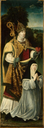 Saint Augustine and an Augustinian Canoness