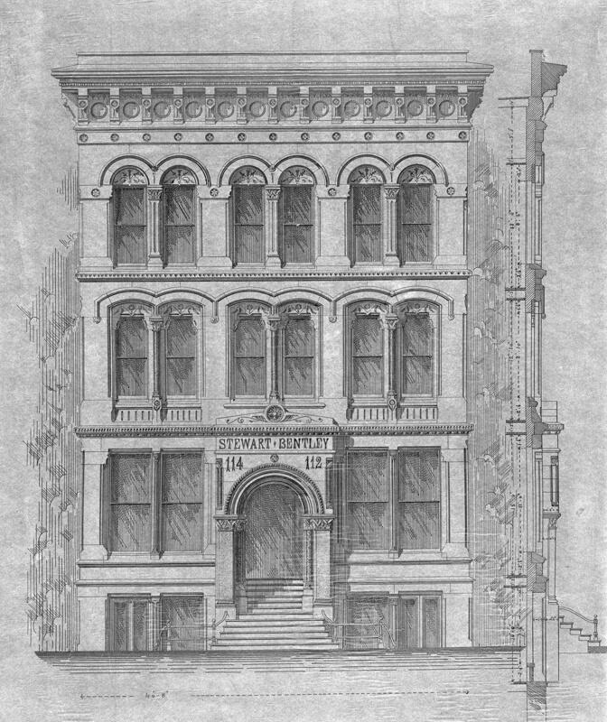 Front Elevation Building Construction : Stewart bentley building presentation drawing front