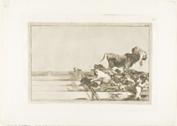 Dreadful events in the front rows of the ring at Madrid, and death of the mayor of Torrejón, plate 21 from The Art of Bullfighting