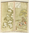 Minamoto no Yoshiie on horseback and a bird on a branch, from an untitled hexaptych depicting a pair of folding screens