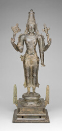 Four-Armed God Vishnu Holding Discus and Conch
