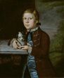 Boy of Hallett Family with Dog